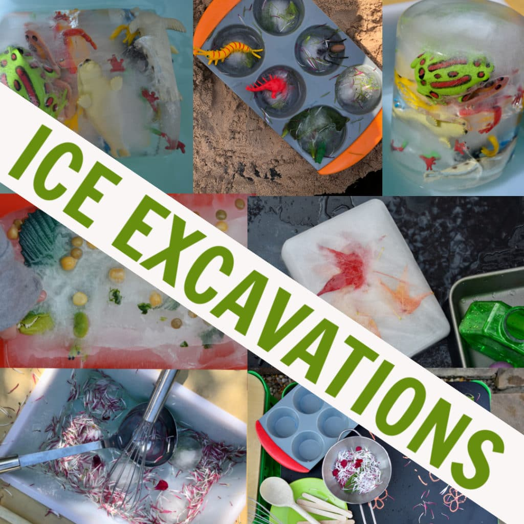 easy ice excavations for kids - science for kids #iceexperiments #scienceforkids