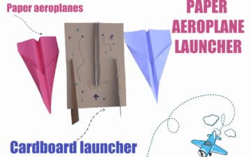 Paper aeroplane launcher