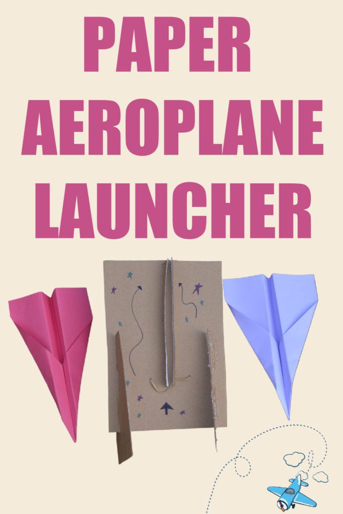 Paper aeroplane launcher STEM challenge #scienceforkids #STEMChallenge