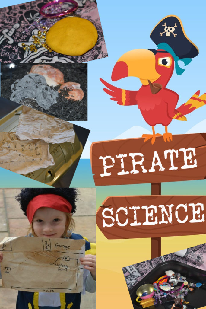 Fun collection of easy pirate themed science experiments for kids! #scienceforkids #piratescience #scienceexperiments #scienceforearlyyears