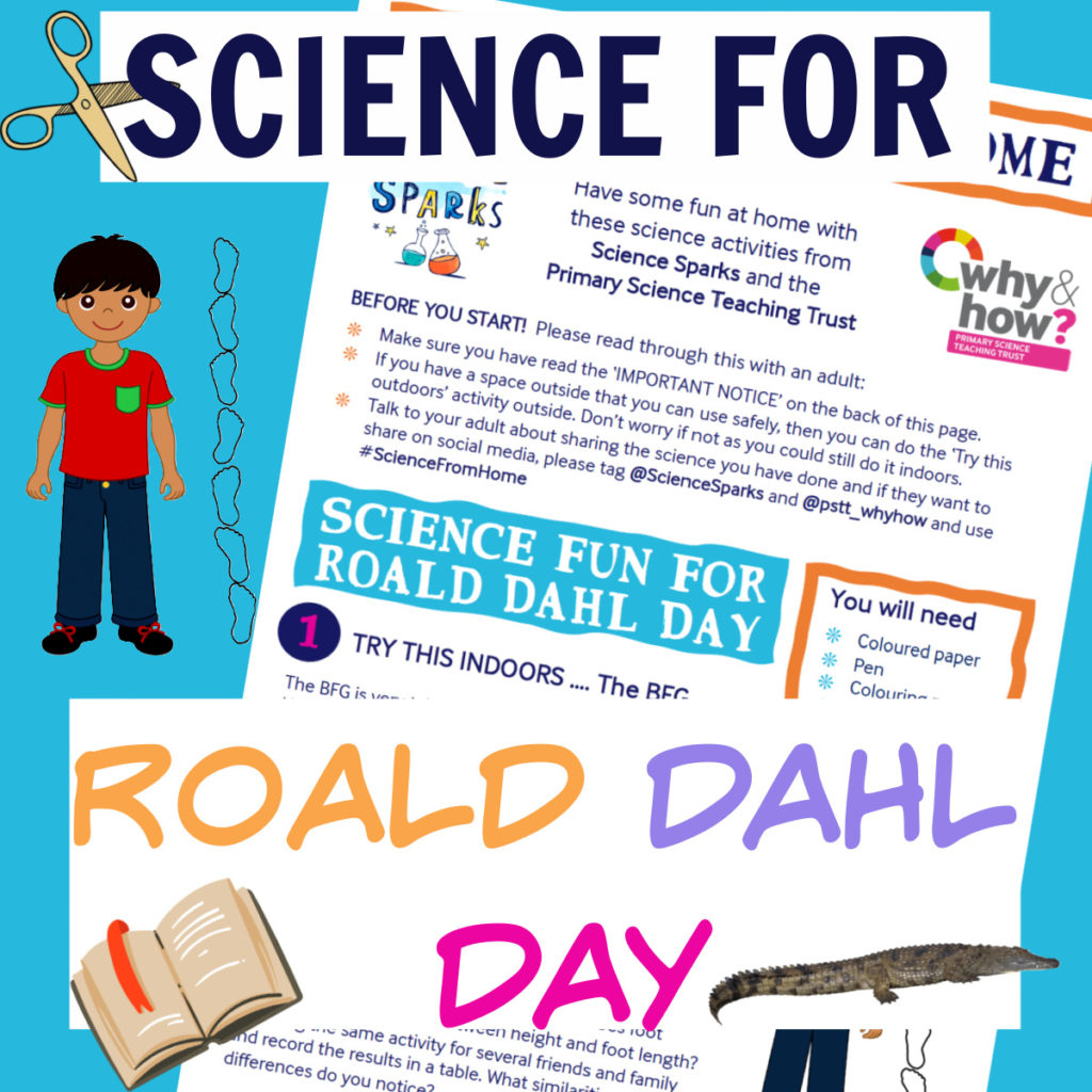 Lots of easy science ideas for Roald Dahl Day #scienceathome #RoaldDahl #science
