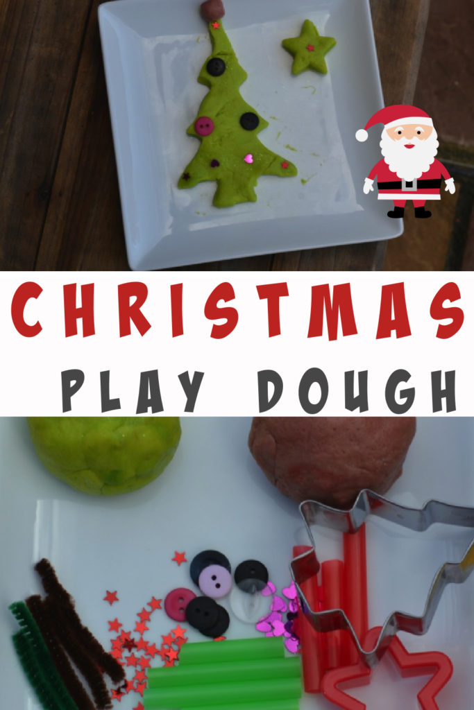 Make Christmas play dough - fun Christmas craft for kids #Christmascrafts #playdoughrecipe