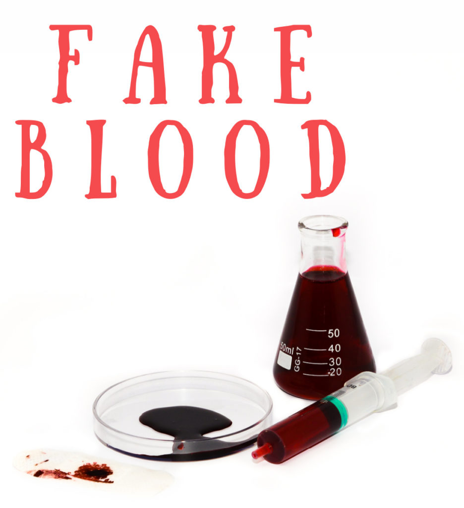 Make fake blood for a Halloween costume