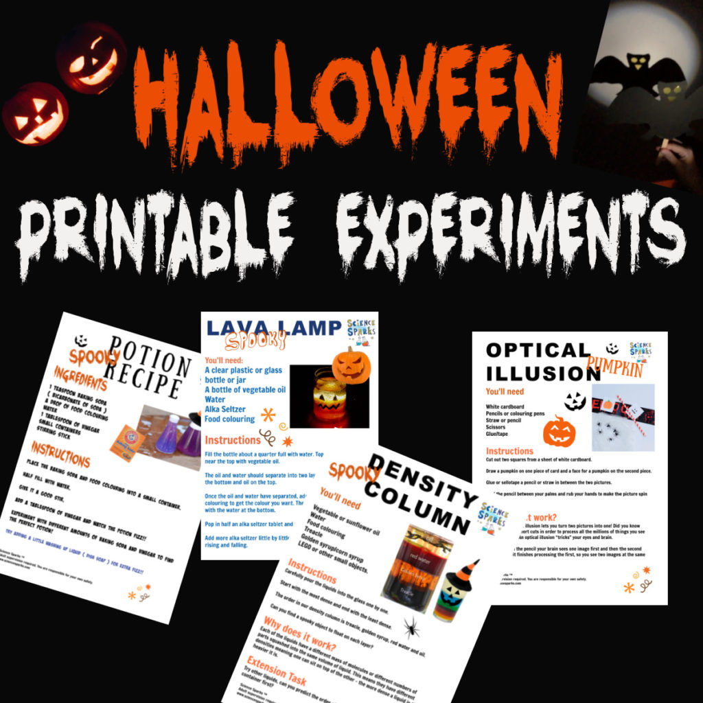 Printable Halloween science experiments Halloween activities for kids