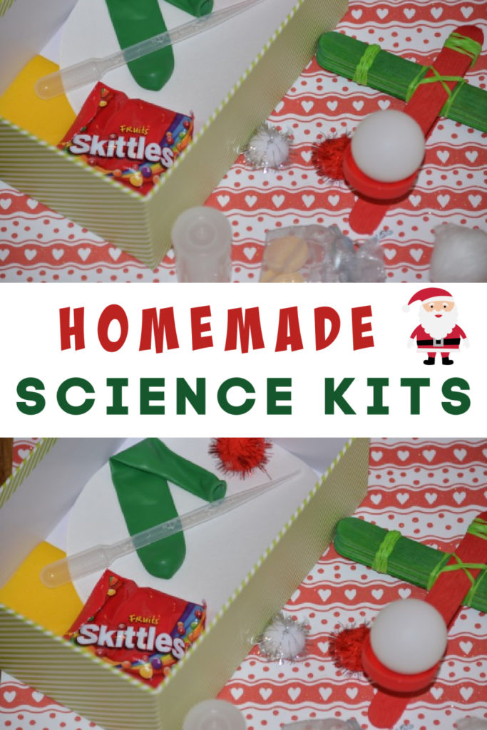 easy homemade science kit. These would make a brilliant Christmas or birthday science gift for a curious child #sciencekits #Christmas #scienceforkids