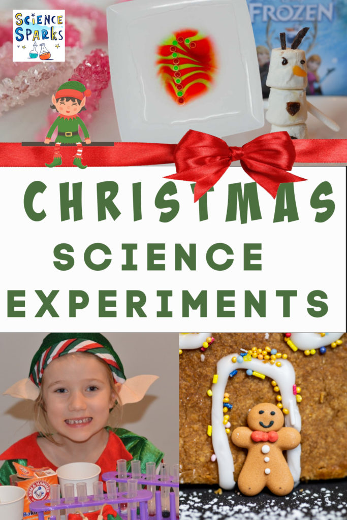 Christmas Science Experiments for kids. Festive collection of easy Christmas Science experiments for kids. Make Grinch slime, spiced apple cider, marshmallow snowmen and lots more Christmas Science Experiments