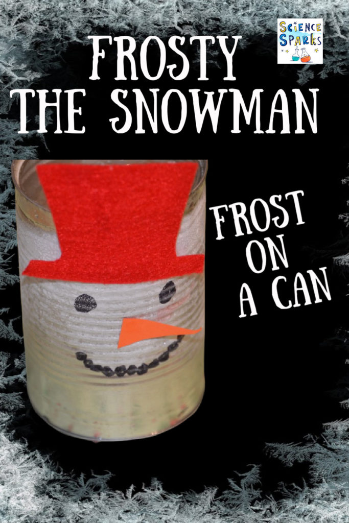 Make frost appear on a can using the power of ice and salt. #Winterscience #Frostexperiments #scienceforkids