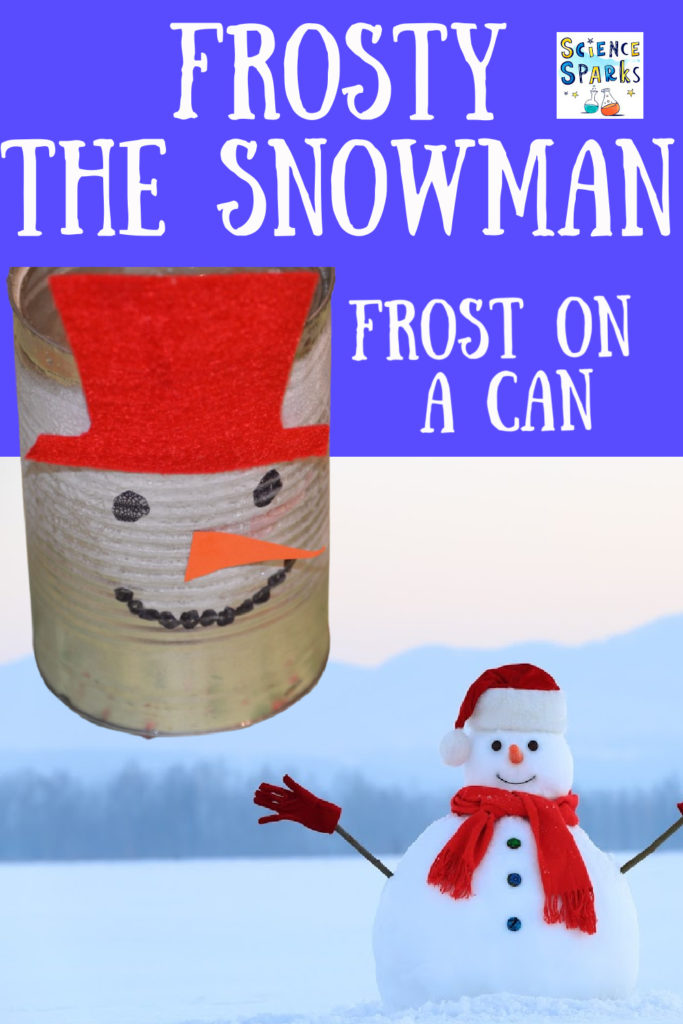 Make Frost appear on a can - frost science experiment for kids #Frostonacan #winterscience