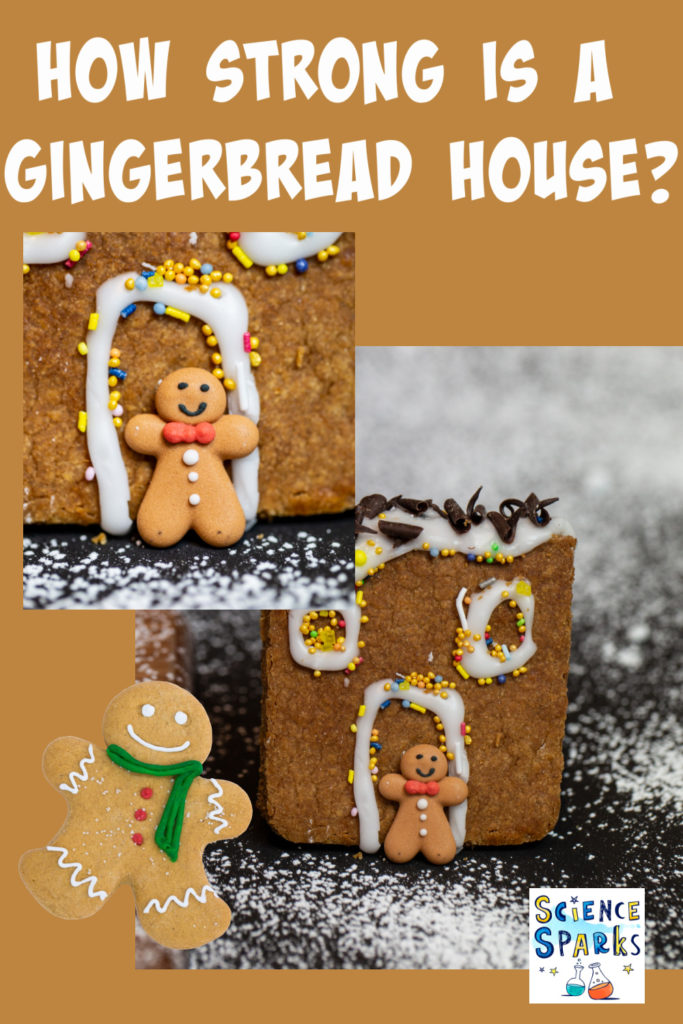 test different sticky materials to investigation which hold a gingerbread house together the best #kitchenscience #scienceforkids #christmasscience #gingerbreadhouse