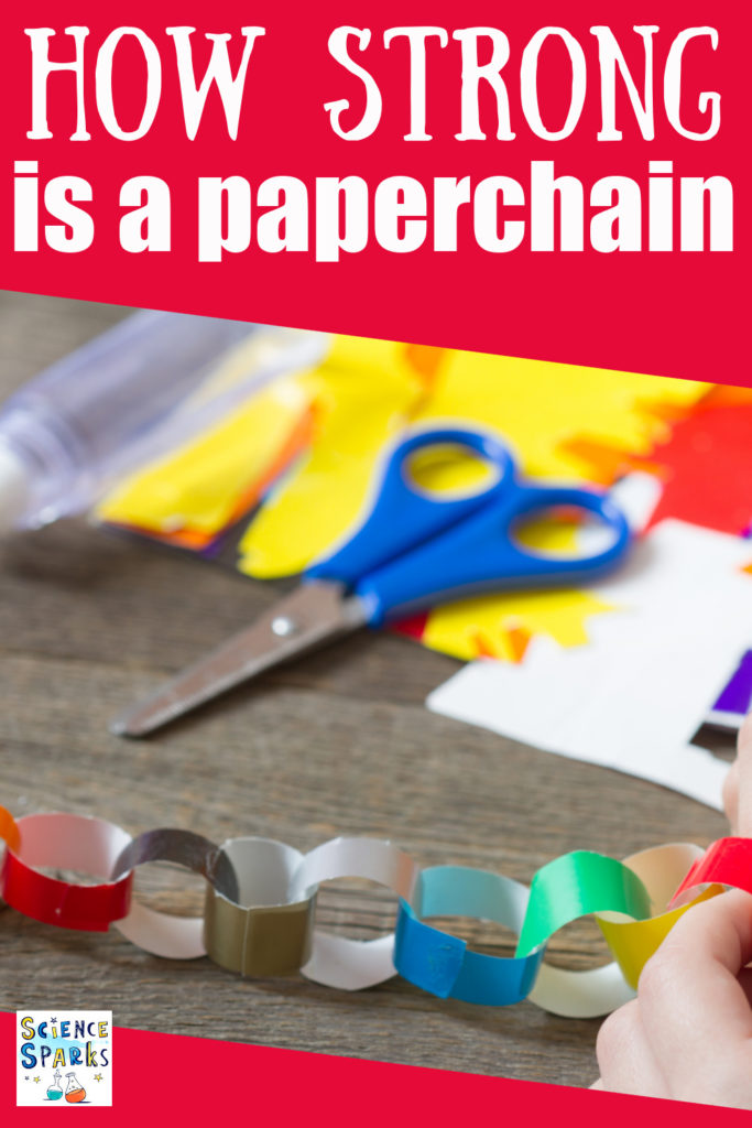 How strong is a paper chain - fun science investigation for little ones.. #scienceforkids #paperchains