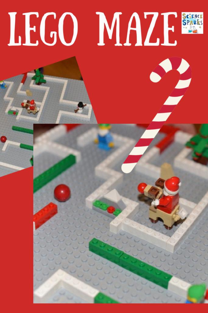 Christmas LEGO maze - make a Christmassy maze using LEGO! #ChristmasScience #Scienceforkids #Christmaslego #Christmasactivitites
