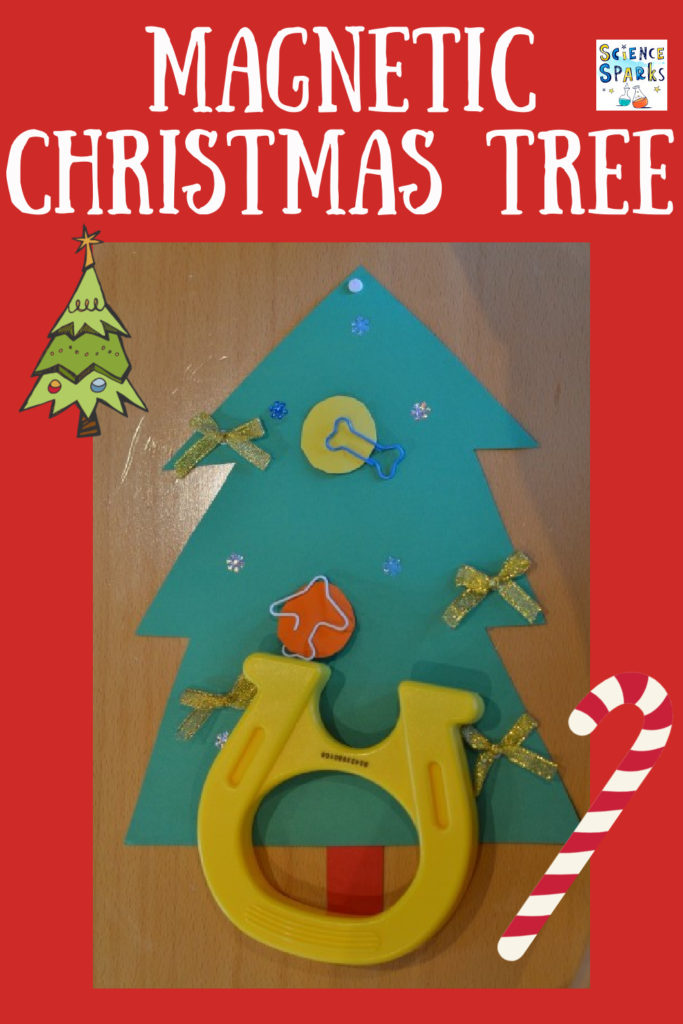 Make a magnetic Christmas tree - fun Christmas craft and science activity for kids #ChristmasScience #ScienceforKids #magnetism