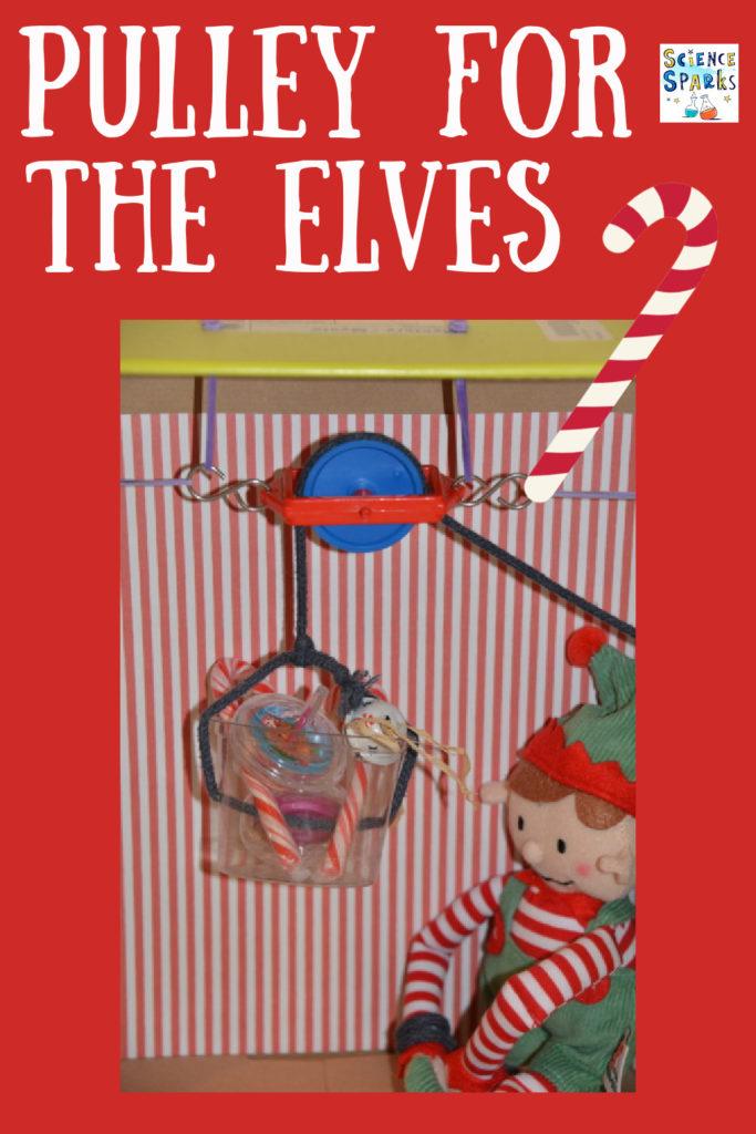 Christmas STEM Challenge - Make a pulley for the elves. #scienceforkids #STEMChallenges #ELfSTEM #ELFontheshelf