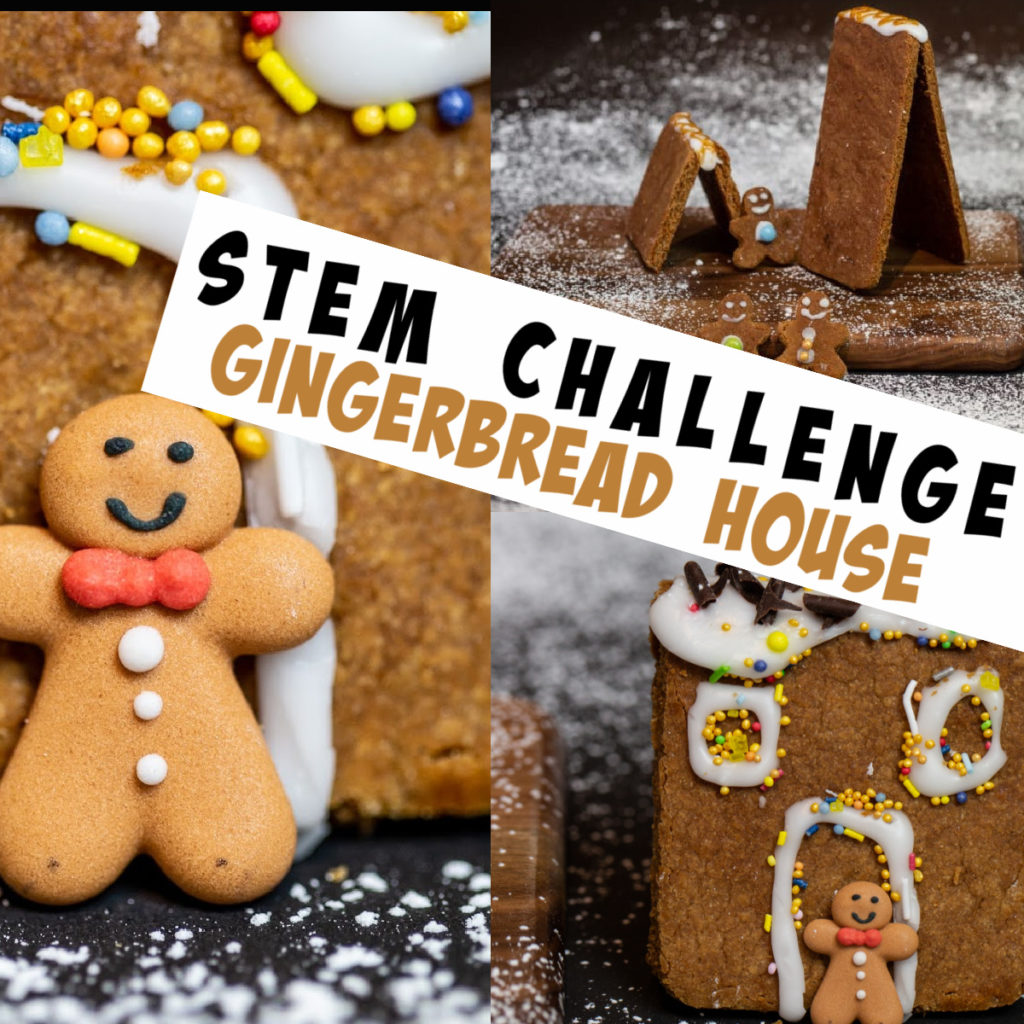 Gingerbread house STEM Challenge - this would be great for a Christmas STEM Challenge too.