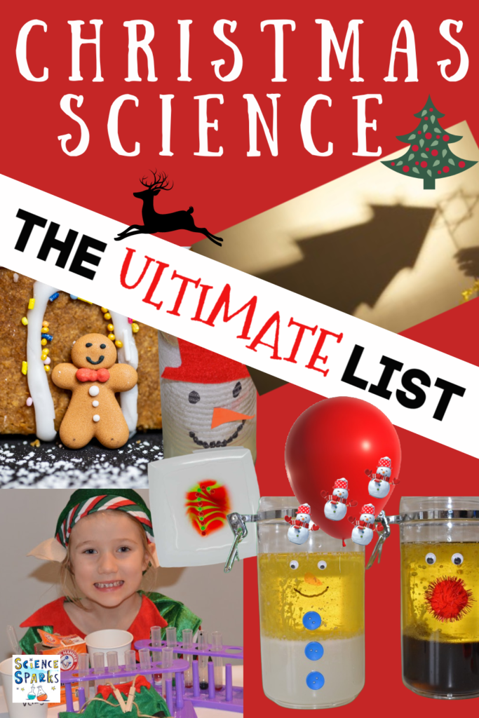 The ultimate list of Christmas Science Experiments for kids. Huge collection of fun and festive #ChristmasScience experiments and investigations