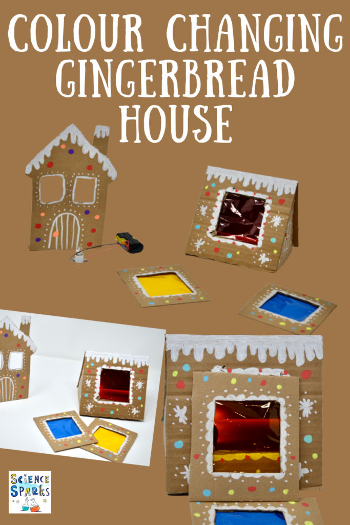 colour mixing gingerbread house