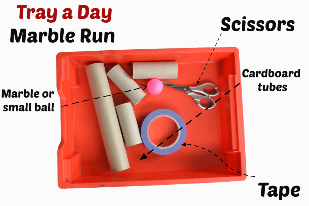 MArble run at home science activity