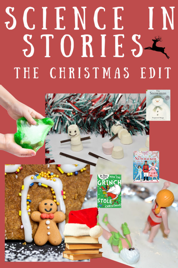 Science in ( Christmas ) Stories - fun science experiments and investigations based on Christmas books #scienceforkids #Christmasscience #TheGrinch #TheSnowman #Thenutcracker