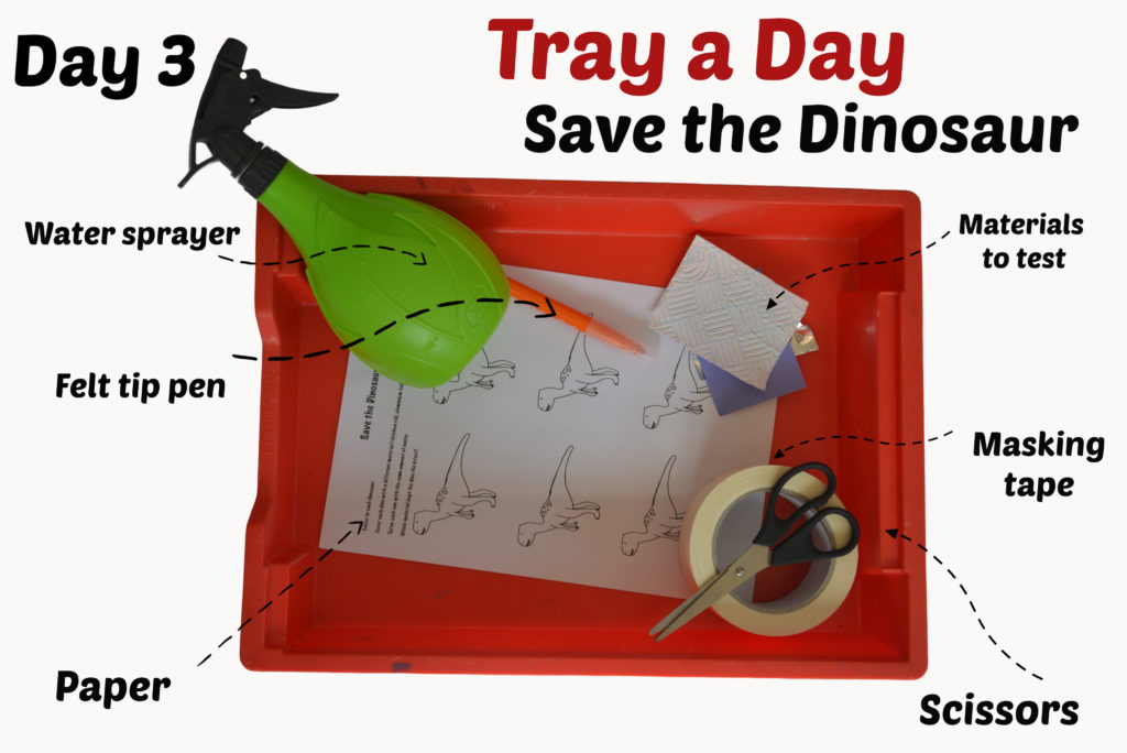 Save the dinosaur science activity for kids