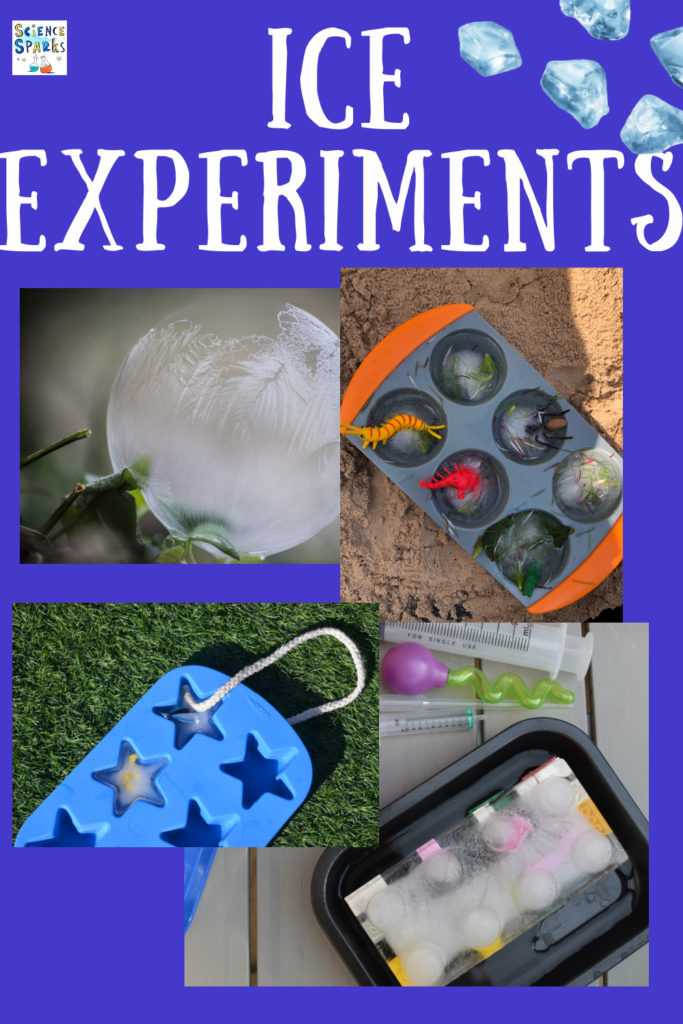 collection of easy ice experiments for kids. Make ice excavations, go ice fishing, learn about supercooling with ice and salt and more winter science investigations
