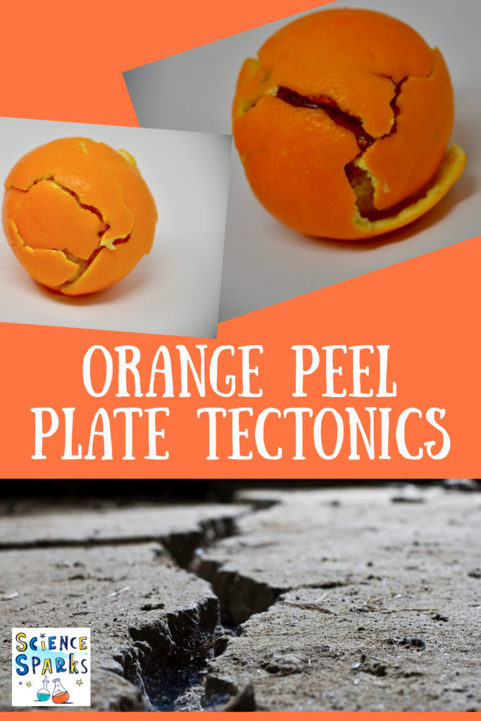 plate tectonics with an orange. Fun demonstration of plate tectonics using an orange