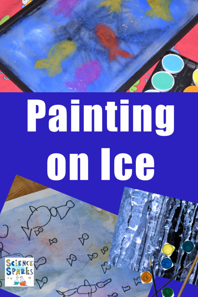 Painting on ice - paint, wipes clean and paint again - preschool science experiment, winter science experiment for kids.#scienceforkids #preschoolscience