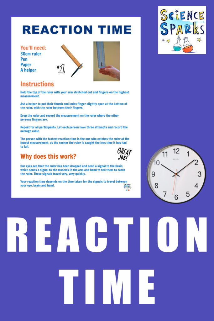 Instructions for a reaction time experiment