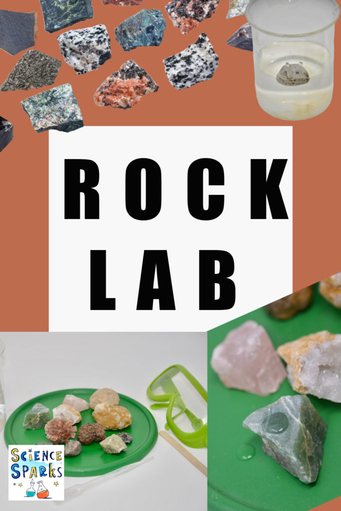 Image showing different types of rock identification tests part of a rocks for kids activity learning how to identify rocks