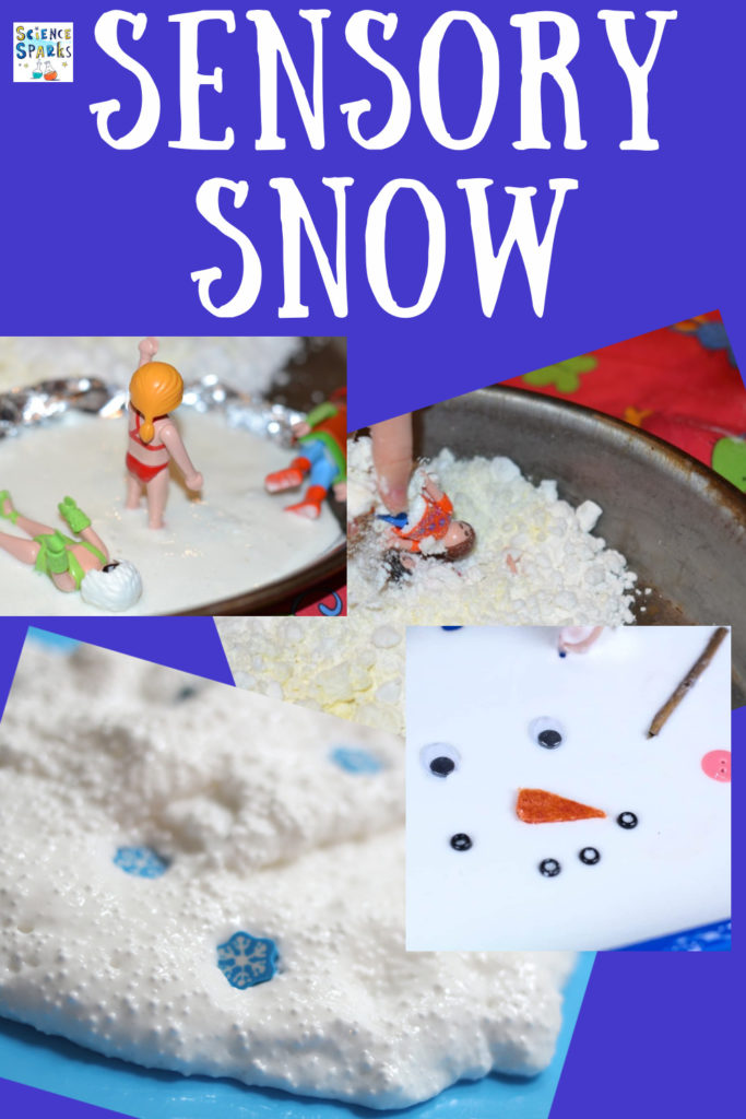Make different types of sensory snow and test to see which works the best. fun winter science experiment for Early years.
