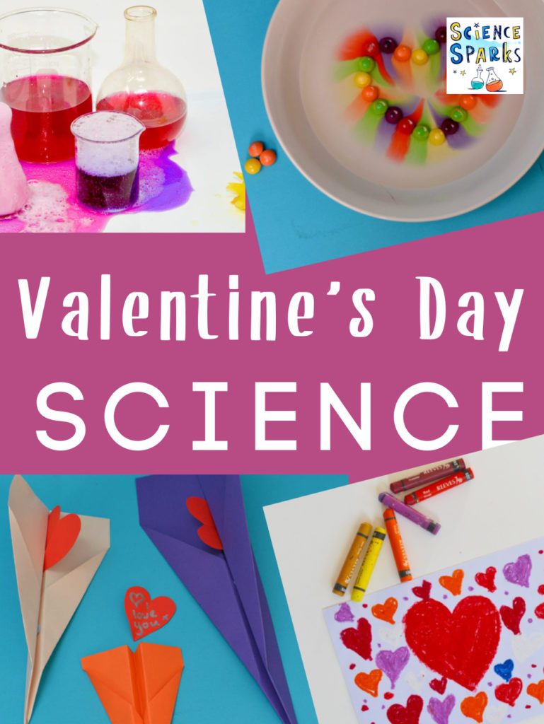 Collection of ideas for Valentine's Day science for kids