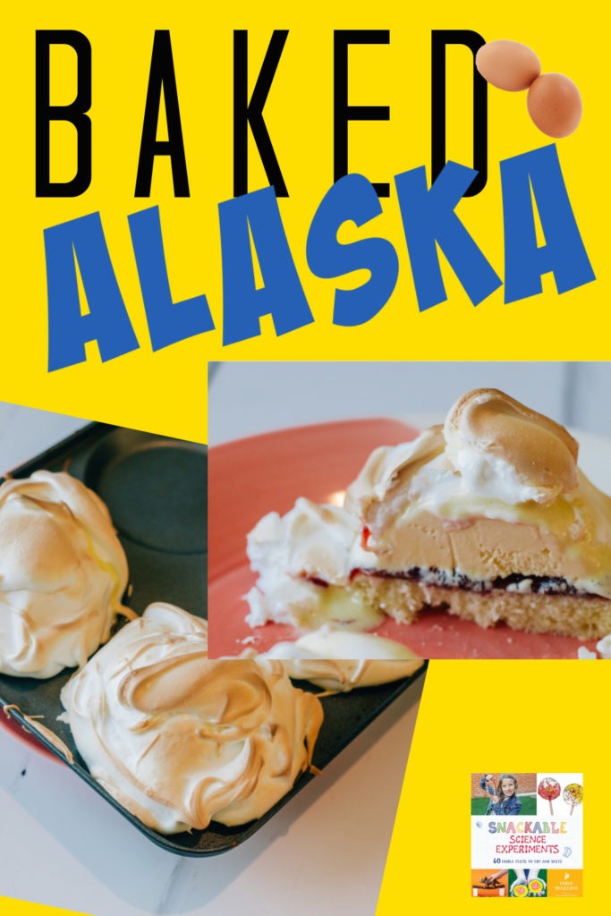 Image of baked alaska made with meringue and ice cream