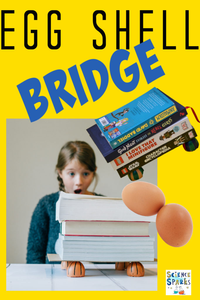 Image of a bridge made from half egg shells to demonstrate how domes are a strong shape.