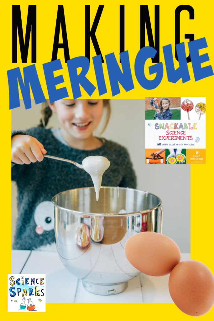 Image of a child making meringue