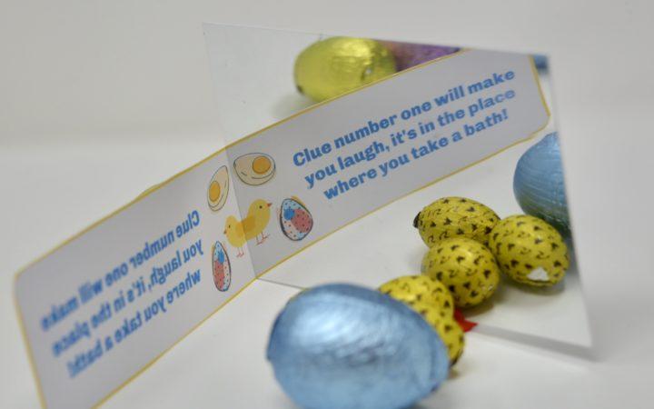 Easter Egg Hunt Mirror MEssage