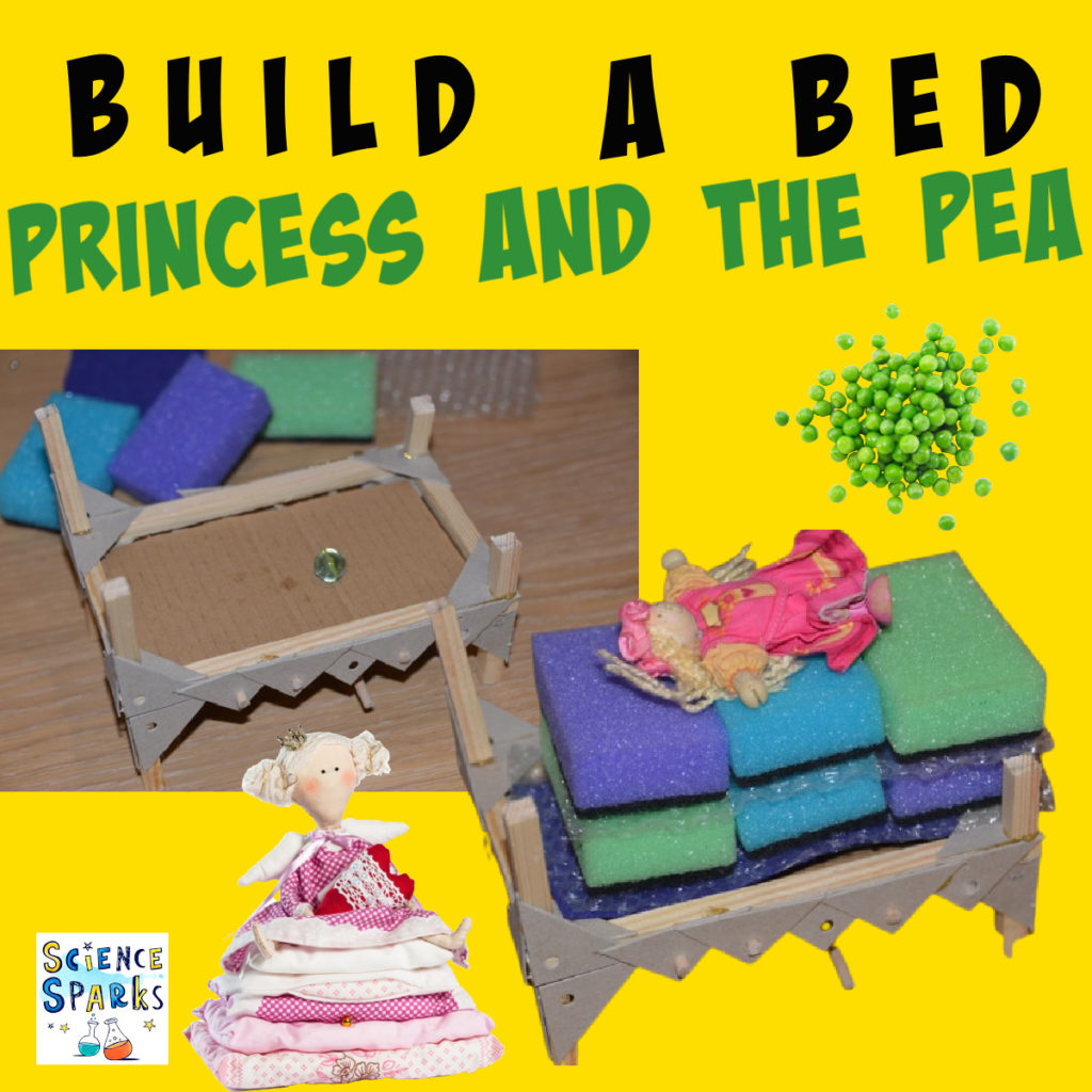 Princess and the pea science experiment