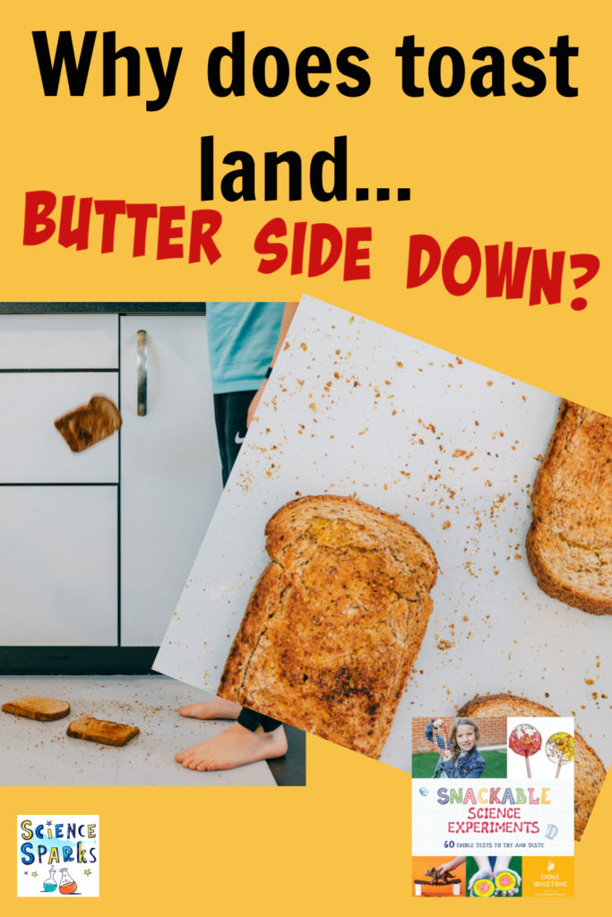 Why does toast land butter side down