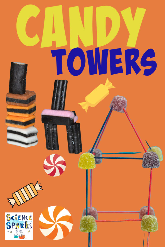candy towers made from liquorice allsorts