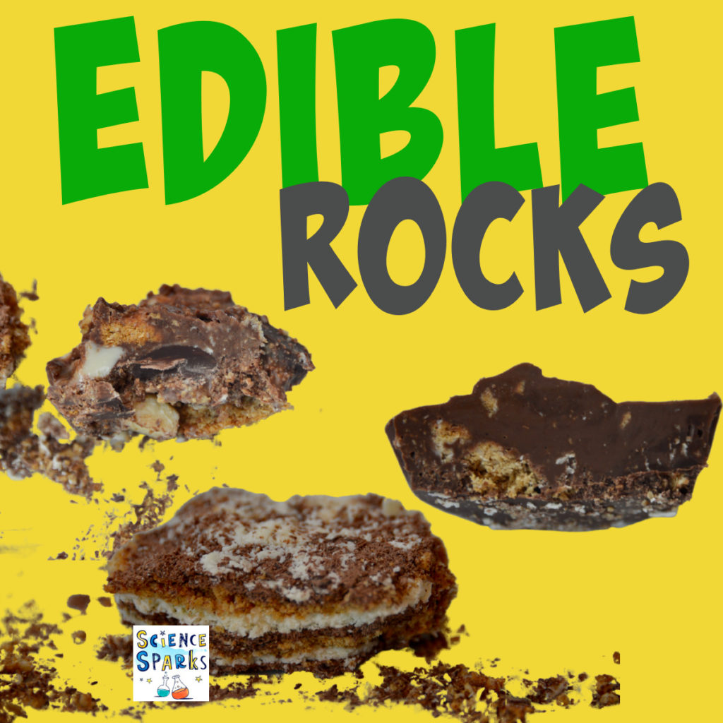 Image of chocolate igneous, metamorphic and  sedimentary rocks