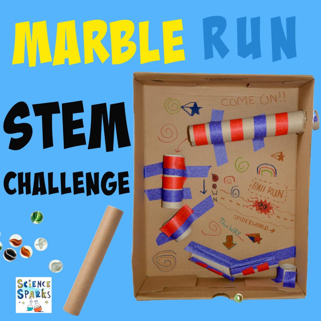 DIY marble run for a cardboard sTEM Challenge