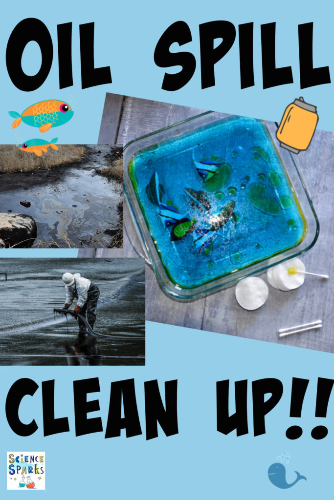 Test out different techniques for clearing up an oil spill. Great science activity for learning about pollution for kids