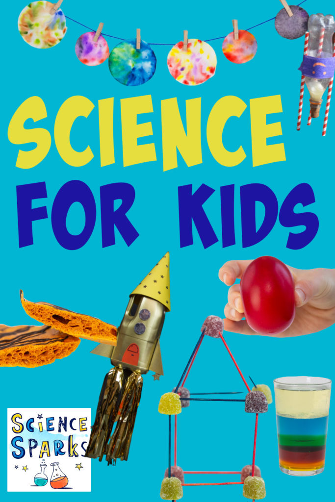collage of bottle rockets, naked eggs and more science experiments for kids