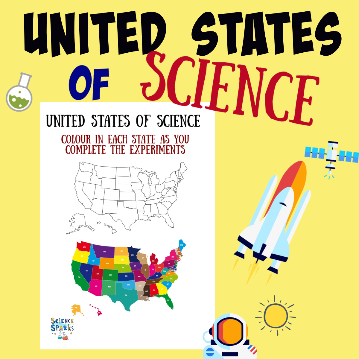 United States of Science printable checklist