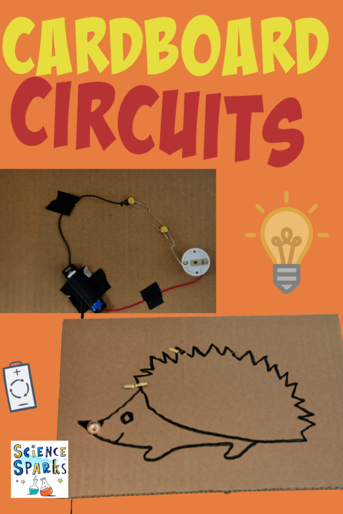 Image of. circuit on a sheet of cardboard.