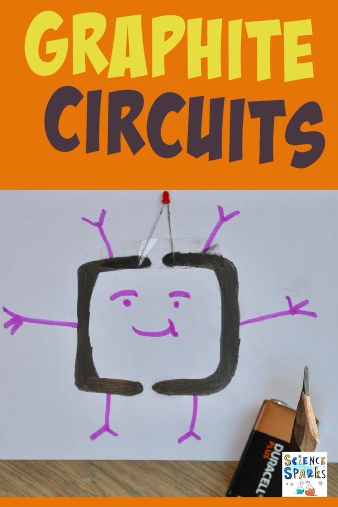 Image of a pencil circuit as part of an electricity experiment