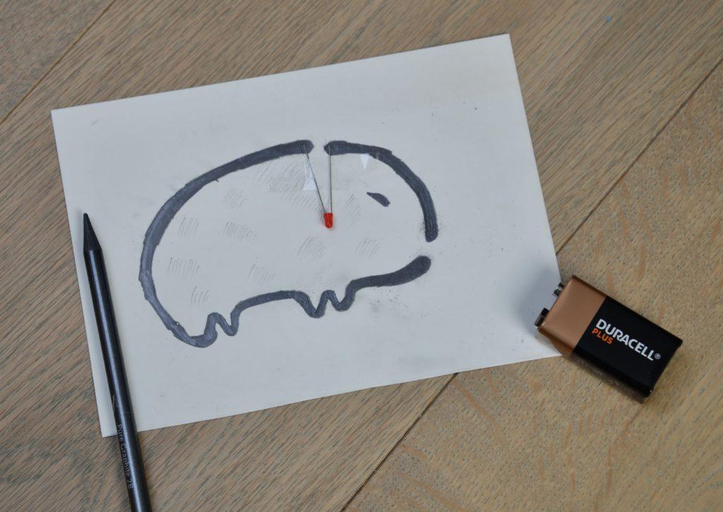 Pencil circuit drawing
