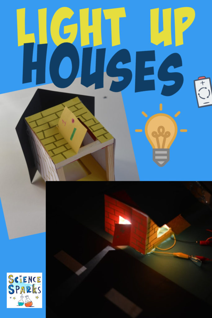 Light up houses - electricity project for kids