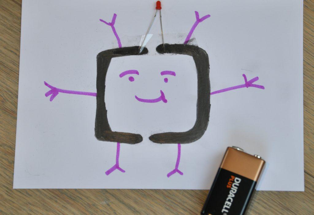 Image of a graphite pencil circuit