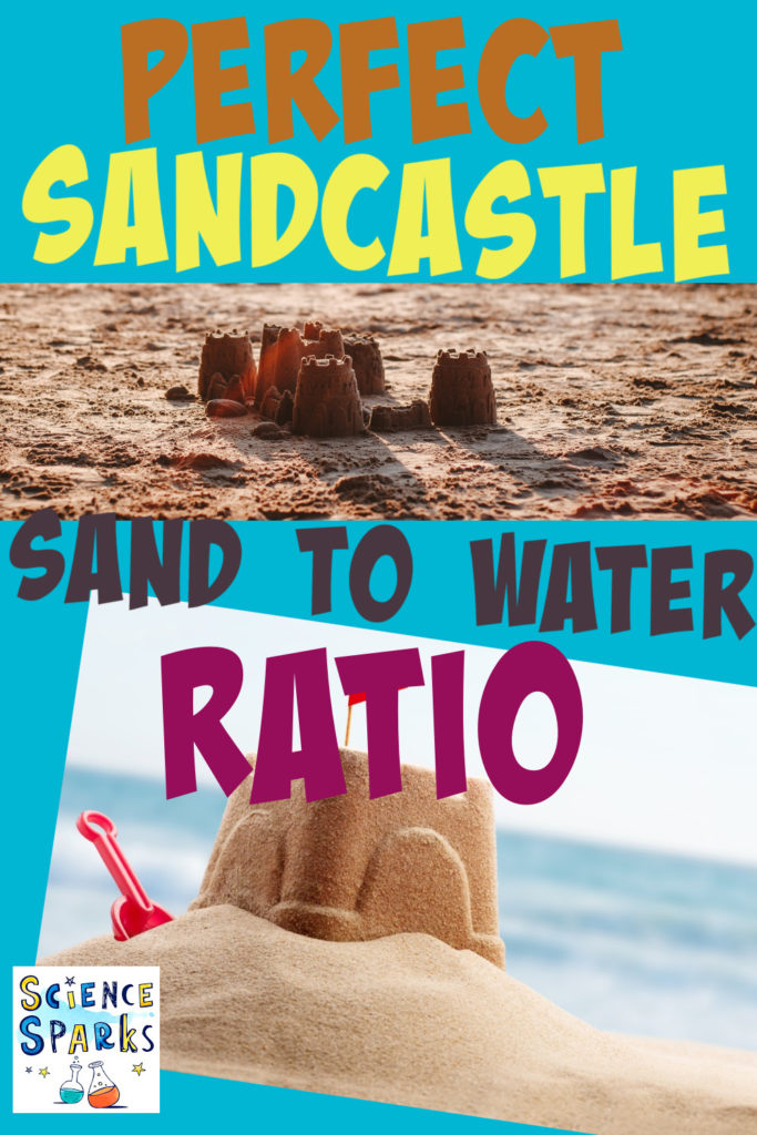 Image of sandcastles on the beach for a making sandcastles science activity