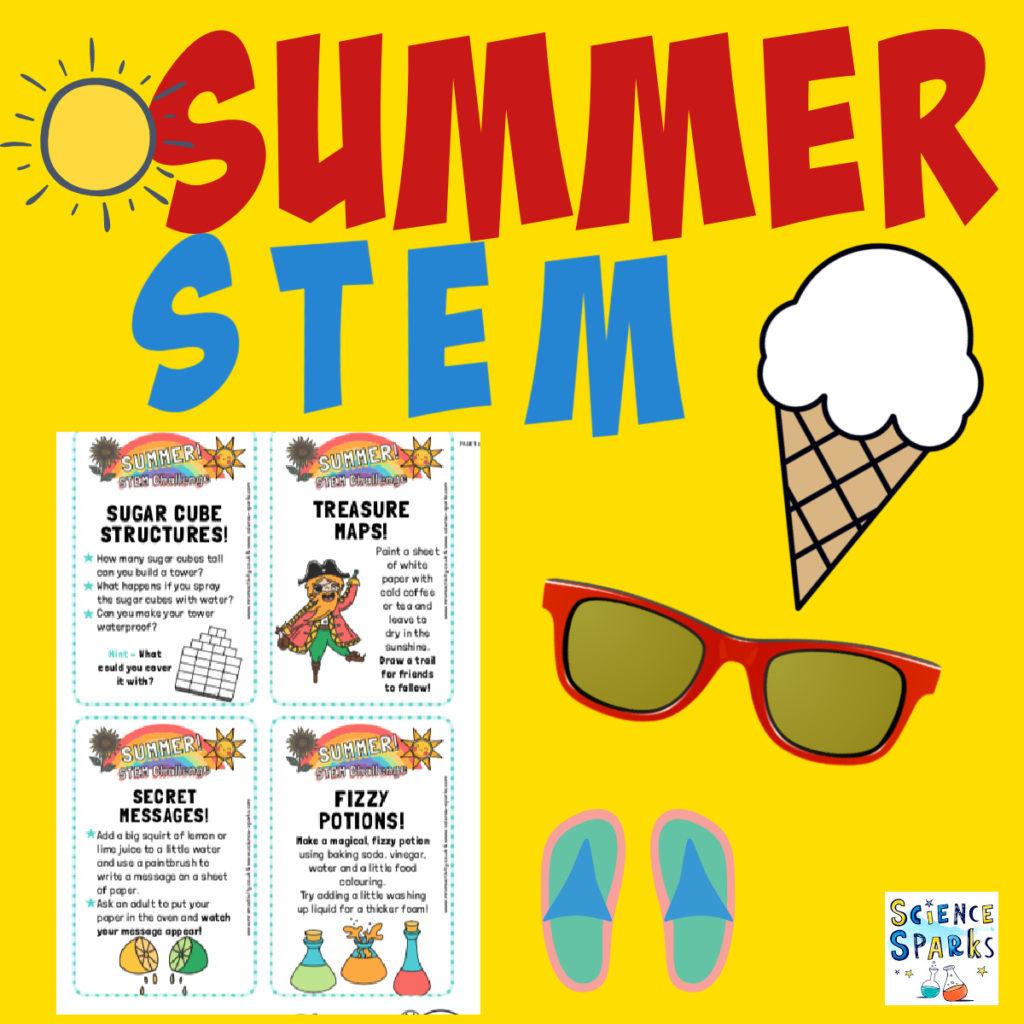 Image of Free downloadable summer STEM challenge cards