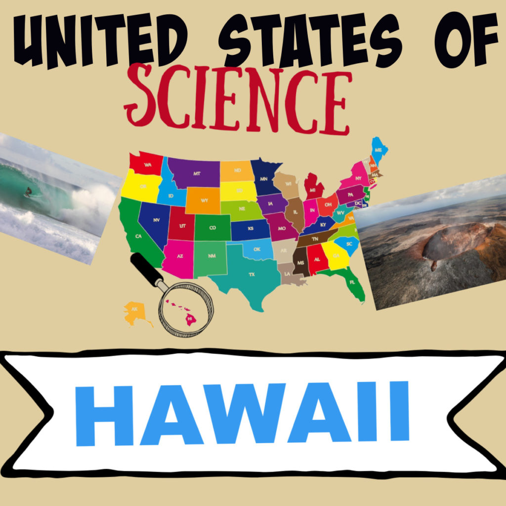 Image of Hawaii on a mao of the United States